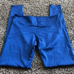 Onzie M/L royal blue long leggings shimmer